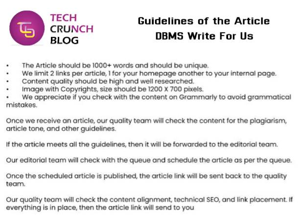 Guidelines DBMS Write For Us