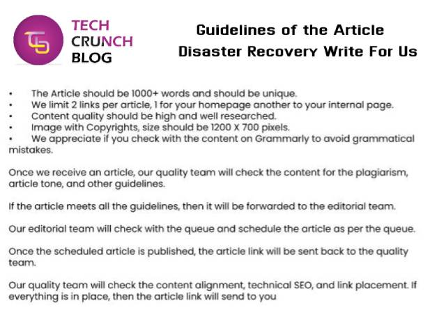 Guidelines Disaster Recover Write for us