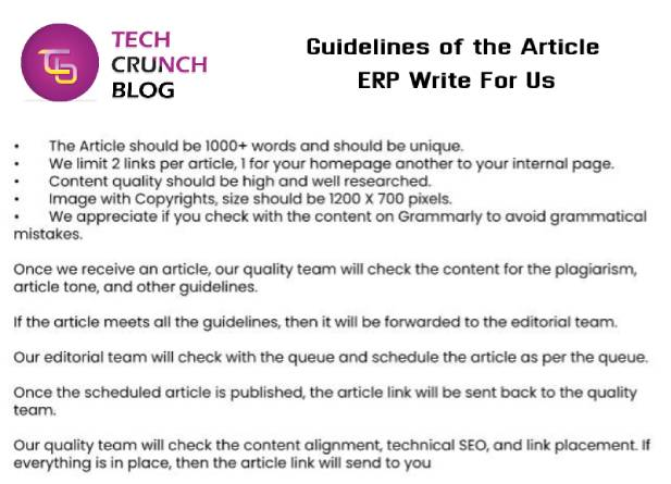 Guidelines ERP Write For Us