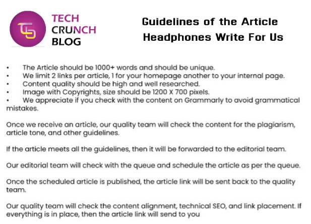 Guidelines Headphones Write for us