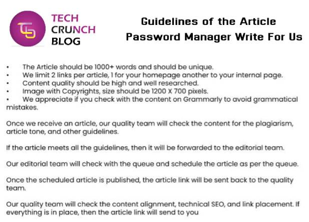 Guidelines Password Manager write for us