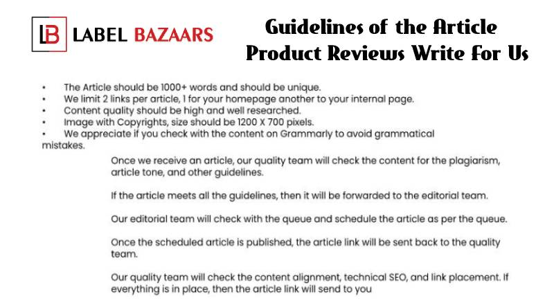 Guidelines Product Reviews Write For Us
