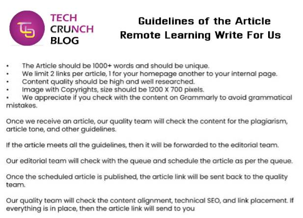 Guidelines Remote learning write for us