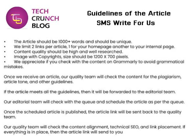 Guidelines SMS write for us