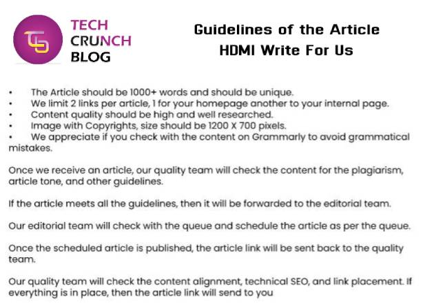 Guidelines HDMI Write for us