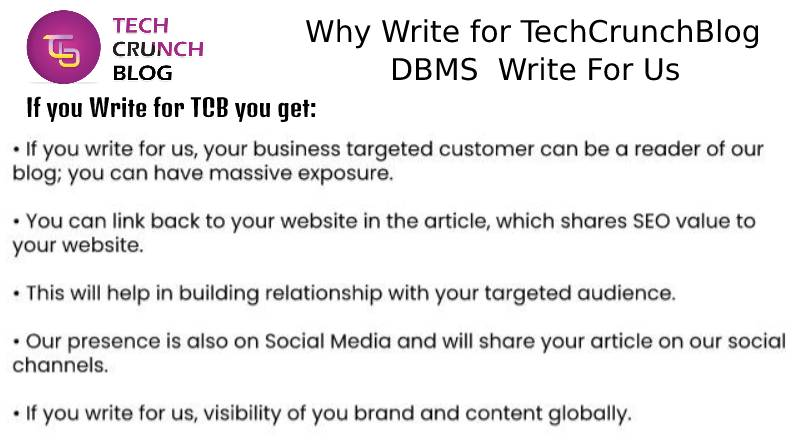 Why Write for DBMS Write For Us