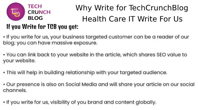 Why Write for Health Care IT Write for us