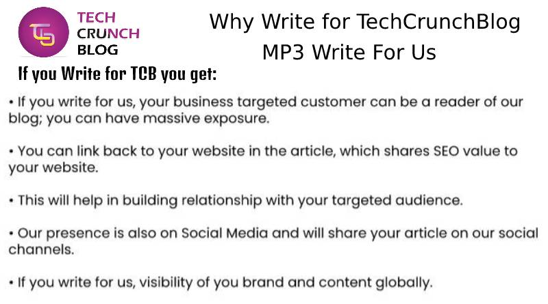 Why Write for MP3 write for us