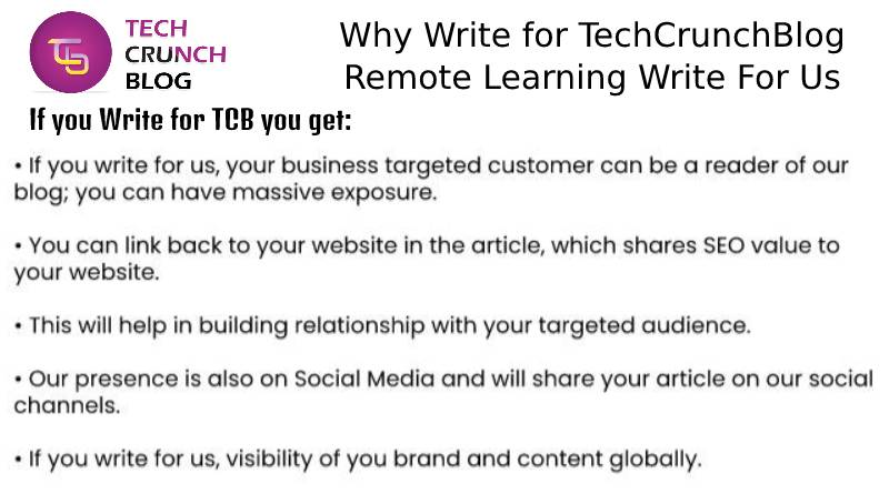Why Write for Remote learning write for us