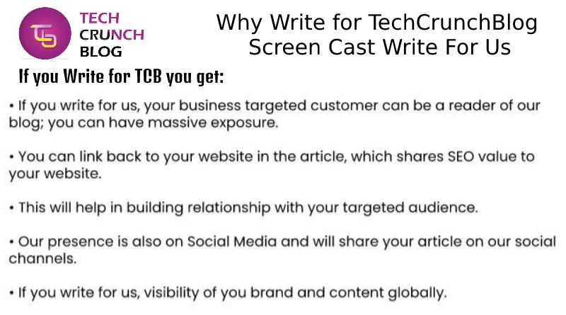 Why Write for Scree Cast Write For Us